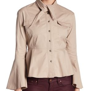 NWT: Tie Detail & Bell Sleeve Blouse